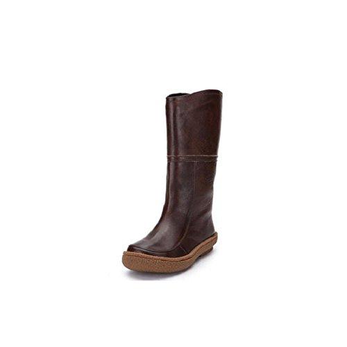 YYH les bottes en cuir des bottes à semelle antidérapante knight tube chaud des chaussures Brown
