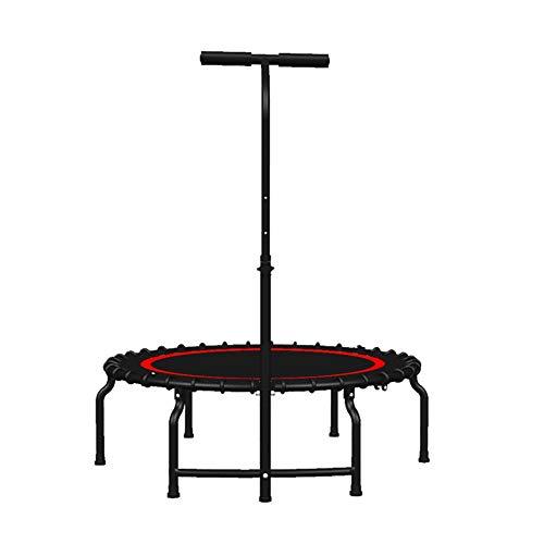 Indoortrampoline Kids Mini Fitness-Trampoline mit verstellbarem Griff, Indoor-Bounce-Trainingsgerät mit Sicherheitsunterlage, 40 Zoll, Max. Belastung 500 kg
