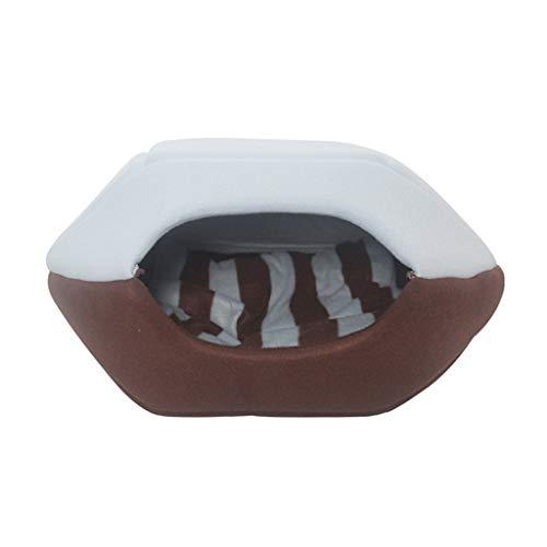 Nido per animali domestici Pet Cat House Four Season Warming Cat Bed Soft Cat Nest Ovale Chiuso Tipo Sacco a Pelo Profondo (Color : C, Size : 45cm*38cm*32cm)