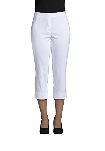 Slim Fit Robell Marie 07 Pantaloni stretch pantaloni slittamento pantaloni da donna #Marie 07 weiss(10)