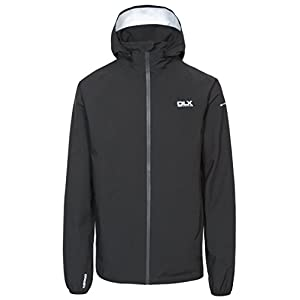 31xIcJAe6jL. SS300  - Trespass Men's Hawkings Packaway Waterproof Jacket with Removable Hood, Black, 2X-Small