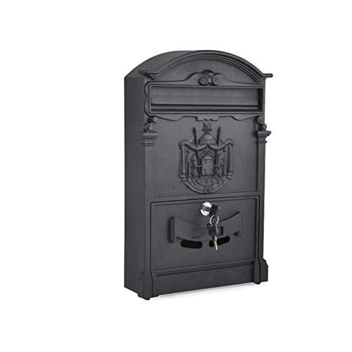 Eeayyygch Briefkasten für den Außenbereich, wasserfest, für kreativen Briefkasten, Retro-Postkasten, mit Schloss (Farbe: C), a,