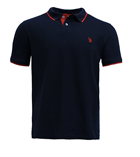 U.S. POLO ASSN. Premium Herren Poloshirt - T-Shirt mit Kragen für Arbeit - Freizeit - SPOR - Stylisches Casual Kurzarm Männer Shirt aus 100% weicher Baumwolle (XL, Navy)