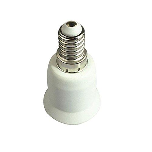 alkyoneus E14zu E27Base LED Lampe Adapter Halterung Konverter Schraubsockel (Wein-flaschen-licht-buchse)