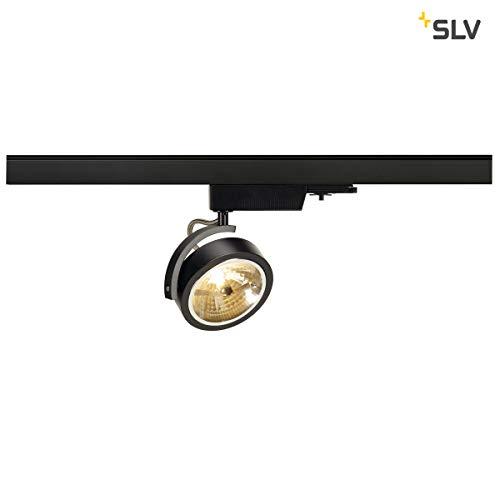 SLV 153580 Kalou Track QRB 111, noir, max. 50, 3-P inclus, adaptateur, en aluminium, Noir,