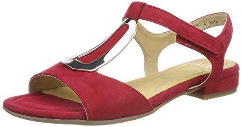 Ara Vegas 1216839, Sandalias con Tira Vertical para Mujer, Rojo Rot 07, 39 EU