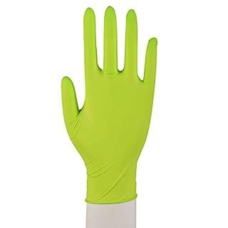 100 x Nitril Handschuhe Puderfrei Texturiert Einmalhandschuhe Einweg XS-XL Grün Größe XL (9-10)