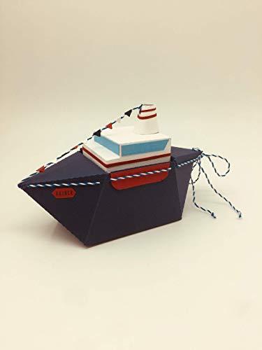 """Geschenkverpackung""""Schiff"""", für Geldgeschenke, Glückwünsche oder als Erinnerung an eine Bootsfahrt"""