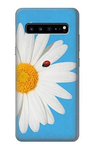 Innovedesire Vintage Daisy Lady Bug Hülle Schutzhülle Taschen für Samsung Galaxy S10 5G (Lady Case Bug 5 Phone Galaxy)