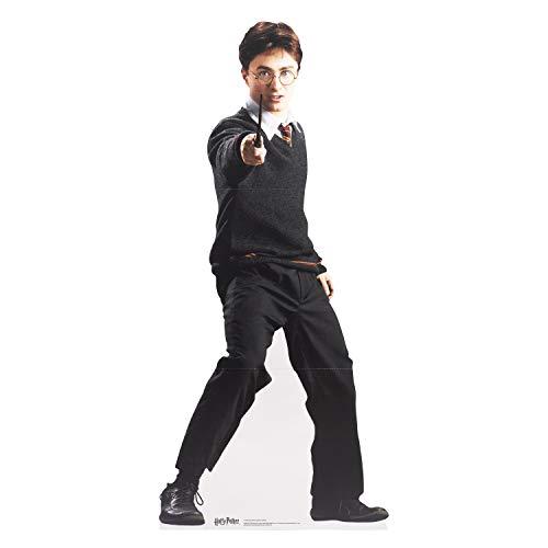 Star Cutouts aus dem Offiziellen Buch aus Karton, lebensgroß, Harry Potter (Hogwarts School of Witchcraft and Wizardry Uniform), Daniel Radcliffe, 160 x 74 x 160 - Daniel Radcliffe Kostüm