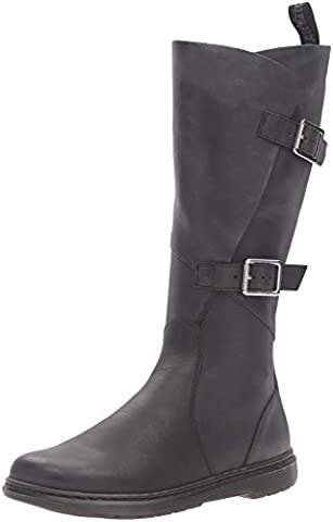 Dr.Martens Womens Caite Oily Illusion Knee High Black Leather Boots 42 EU