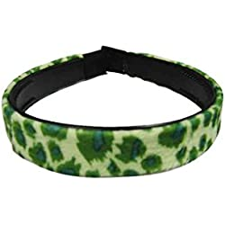 Diadema rockabilly pin up estampado Leopardo - verde