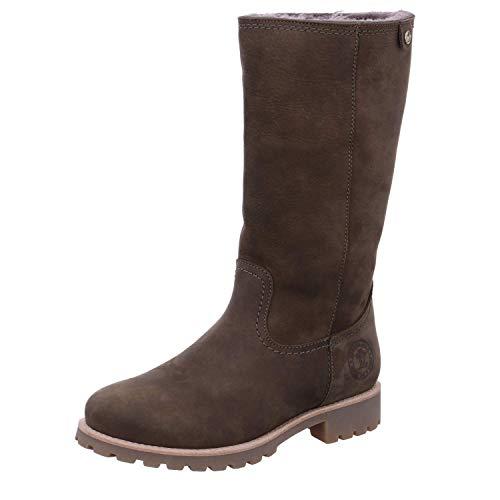 PANAMA JACK Damen Winterstiefel Bambina Igloo,Frauen Winter-Boots,Fellboots,Lammfellstiefel,Fellstiefel,gefüttert,warm,Khaki,EU 38 -