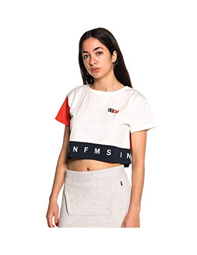 Grimey Camiseta Chica ASHE Crop Top SS18 White -M