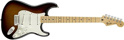 Fender 0144602502Standard-Stratocaster Ahorn-Griffbrett E-Gitarre–Metallic-Blau Volle Größe Braun - Brown Sunburst