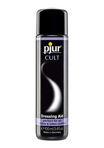pjur CULT Dressing Aid - Latex Anziehhilfe für ein besonders angenehmes Tragegefühl auf der Haut - auch für Gummi - 1er Pack (1 x 100 ml)