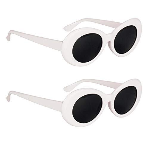 IPOTCH 2er Set Unisex Retro Ovale Sonnenbrille Partybrille Sunglasses