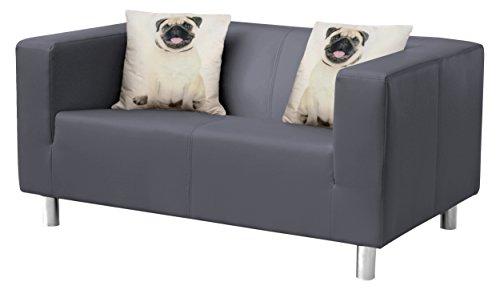 Cube Sofa, Stoff, anthrazit, 85 x 135 x 65 cm