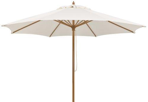 Schneider Sonnenschirm Malaga, natur, 300 cm rund, Gestell Aluminium/Stahl, Bespannung Polyester, 8 kg