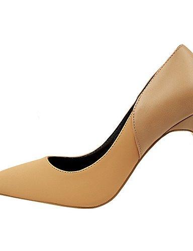 WSS 2016 Chaussures Femme-Extérieure / Bureau & Travail / Soirée & Evénement-Noir / Rose / Rouge / Gris / Kaki / Amande-Talon Aiguille-Talons / khaki-us6 / eu36 / uk4 / cn36