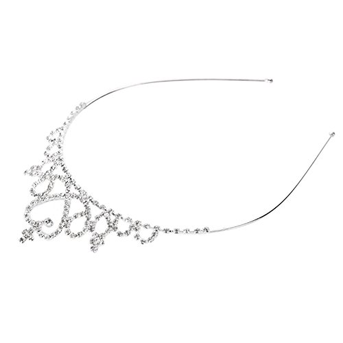 Rrimin Crystal Tiara Hair Band Kid Girl Bridal Princess Prom Crown Rhinestone Hair Decoration  available at amazon for Rs.424
