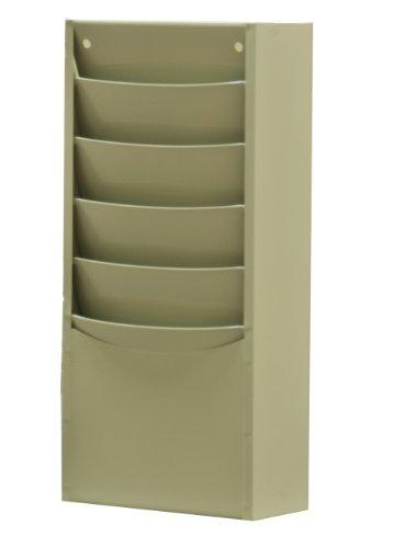 Durham 403–54Putty kaltgewalzter Stahl 5Contour Tasche Vertikal Literatur Rack, 9–3/10,2cm Breite x 20–1/10,2cm Höhe x 4–1/20,3cm Tiefe