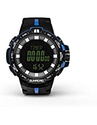Sunroad 2017 nueva llegada Deportes Pesca Barómetro reloj fr861 con reloj de alarma