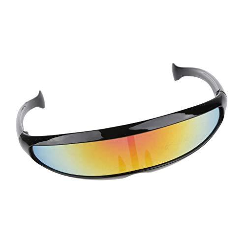 Baoblaze Herren verspiegelt Sonnenbrille Sportbrille Schutzbrille Arbeitsbrille für Alltag Reise...