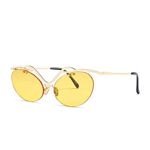 TIANKON Mode Sonnenbrillen Randlose Ovale Neue Sonnenbrille Uv400 Weibliche Brille,C3d