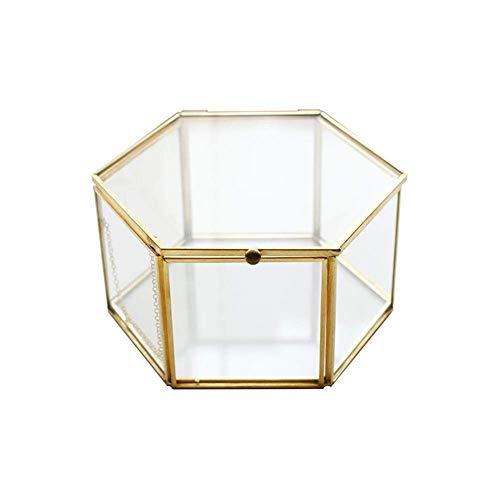 SeaStart Schmuckkästchen aus Glas mit transparentem Glasbehälter, Schmuckbehälter, Geometrierte Pflanzengefäße für das Haus