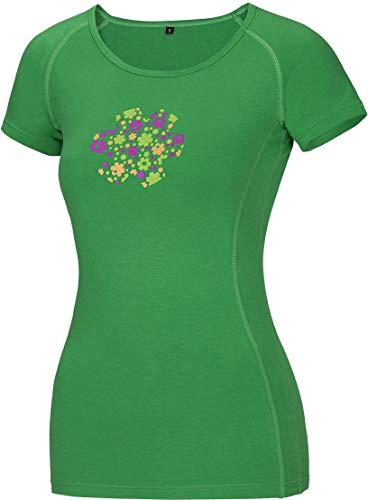 Ocun Bamboo Meadow T-Shirt Damen Spring Green Größe M 2019 Kurzarmshirt - Spring Meadow Green