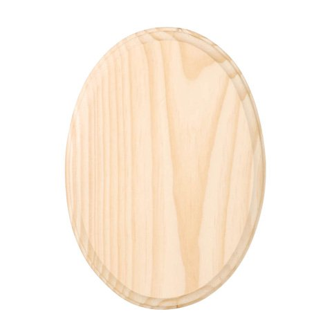 Chunky Solid Pine Wood Oval Plaque to Decorate 18cm x
