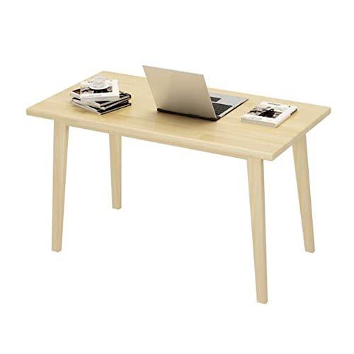CJC Bureau D'ordinateur En Bois De Meubles De Tables, Pin Massif, Table À Manger Multifonctionnelle (Couleur : Wood without paint, taille : 60x40x75cm)