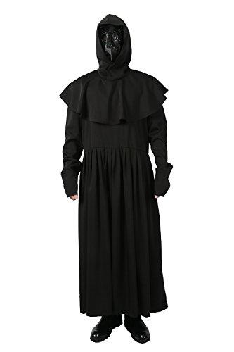 Custom Kinder Kostüm Made - Xcoser Plague Kostüm Erwachsene Herren Schwarze Cosplay Anzug Halloween Fancy Kostüme Masquerade Kleidung