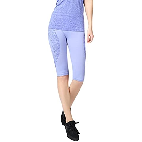 EOZY-Leggings Yoga Donna Elastici e Slim Pantaloncini Traspirante Sportivi