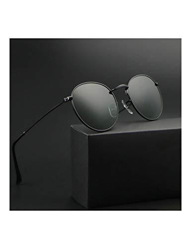 HNPYY Sonnenbrillen Round Sunglasses Men Women Sunglases Female Eyewear,B