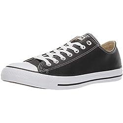 Converse Chuck Taylor Core Lea Ox, Zapatillas De Cuero Unisex Adulto, Negro, 36.5 EU