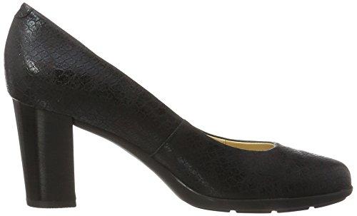 Geox D Annya C, Scarpe con Tacco Donna Nero (Black)