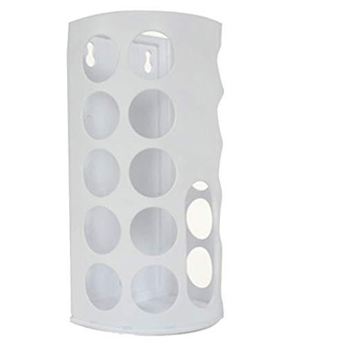 Mengonee Agujeros Bolsa Bolsa de plástico Titular dispensador de Ahorro de Montaje en Pared de plástico de supermercado de Almacenamiento Multi del Organizador
