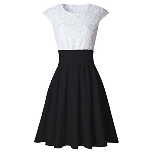 Malloom® Sexy Sommer Beiläufige Kleider Frauen Ärmelloses Cocktail Kurzes Minikleid Schwarz