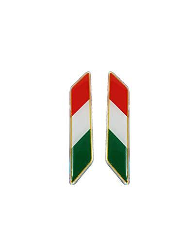 Quattroerre 482 - Pegatina, diseño de bandera italiana inclinada, 3D