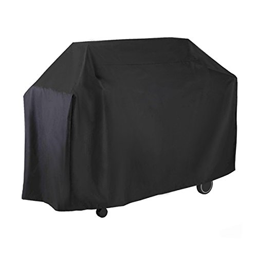 greenmall Gas Grill Cover, Heavy Duty BBQ Grill Cover para Weber, Holland, Jenn aire, Brinkmann y Char BROIL – negro, 58-inch