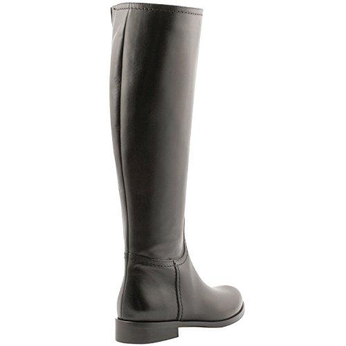 Exklusives Paris Damen Paddock-Stiefel, Schuhe Schwarz - Schwarz
