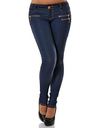 Damen Jegging Hose Skinny (Röhre) No 13148, Größe:S 36;Farbe:Blau
