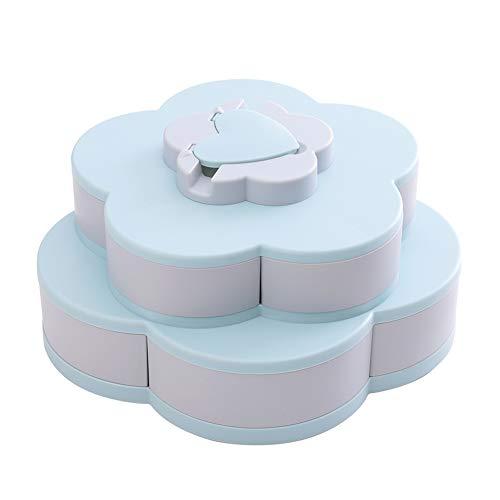 Food Storage Organizer (housesweet Blüte Blume rotierende Snack Box Nuss Schüssel Tabelle Candy Food Storage Organizer mit Handyhalter)