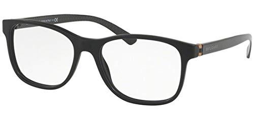 Bulgari Herren 0BV 3036 5313 55 Sonnenbrille, Schwarz (Matte Black)