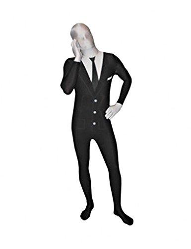 Kostüm Morphsuit Tuxedo - Morphsuit Tuxedo Anzug Herren Kostüm schwarz weiss XXL