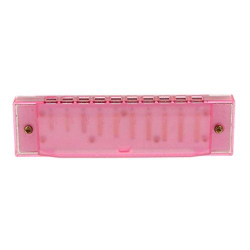 Kinder Mundharmonika Pädagogische Musikinstrument Spielzeug Rosa
