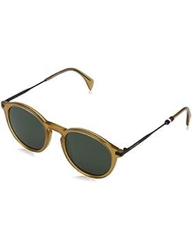 Tommy Hilfiger Unisex-Erwachsene Sonnenbrille TH 1471/S QT, Schwarz (Yellow), 50