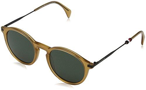 Tommy hilfiger th 1471/s qt 40g, occhiali da sole uomo, giallo (yellow/green), 50